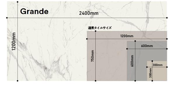 超大判2400x1200 圧倒的な存在感のタイル GRANDE